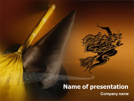Holiday/Special Occasion: Witch's Night PowerPoint Template #01477