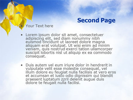 Yellow Leaves PowerPoint Template Slide 2