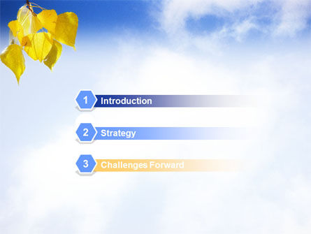 Yellow Leaves PowerPoint Template, Slide 3, 01478, Nature & Environment — PoweredTemplate.com