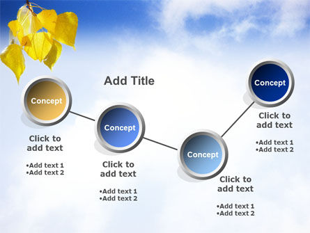 Yellow Leaves PowerPoint Template Slide 6