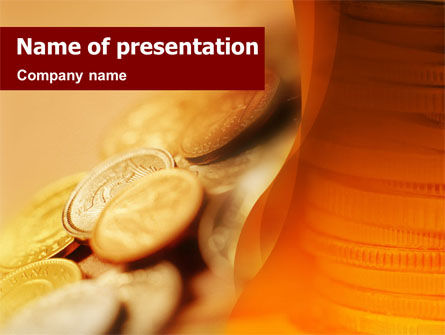 Coins PowerPoint Template, 01479, Financial/Accounting — PoweredTemplate.com