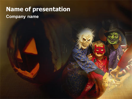 Halloween Costumes PowerPoint Template, 01481, Holiday/Special Occasion — PoweredTemplate.com