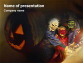 Holiday/Special Occasion: Templat PowerPoint Kostum Halloween #01481