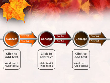 Fallen Red Leaves PowerPoint Template Slide 11