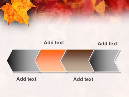Fallen Red Leaves PowerPoint Template Slide 16