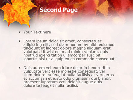 Fallen Red Leaves PowerPoint Template Slide 2
