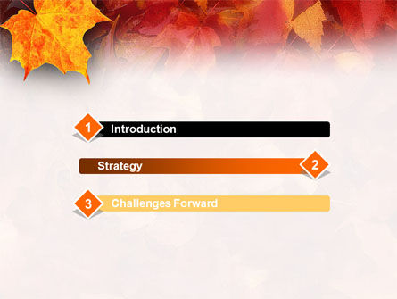 Fallen Red Leaves PowerPoint Template Slide 3