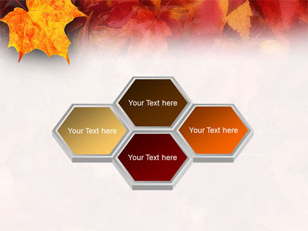 Fallen Red Leaves PowerPoint Template Slide 5