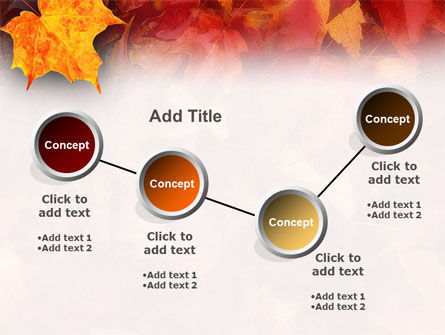 Fallen Red Leaves PowerPoint Template Slide 6