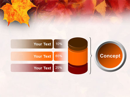 Fallen Red Leaves PowerPoint Template Slide 8