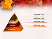 Fallen Red Leaves PowerPoint Template#10