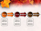 Fallen Red Leaves PowerPoint Template#11