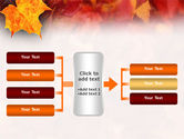Fallen Red Leaves PowerPoint Template#14