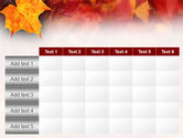 Fallen Red Leaves PowerPoint Template#15