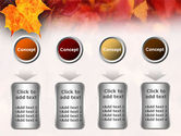 Fallen Red Leaves PowerPoint Template#18