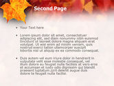 Fallen Red Leaves PowerPoint Template#2