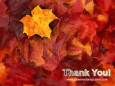 Fallen Red Leaves PowerPoint Template#20