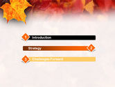 Fallen Red Leaves PowerPoint Template#3