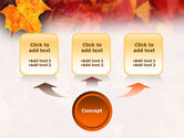 Fallen Red Leaves PowerPoint Template#4