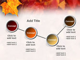 Fallen Red Leaves PowerPoint Template#6