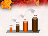 Fallen Red Leaves PowerPoint Template#7