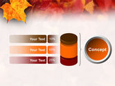 Fallen Red Leaves PowerPoint Template#8