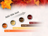Fallen Red Leaves PowerPoint Template#9