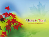 Autumn Red Leaves PowerPoint Template#20