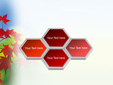 Autumn Red Leaves PowerPoint Template#5
