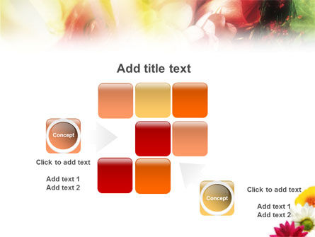 Yellow Red Flowers PowerPoint Template Slide 16