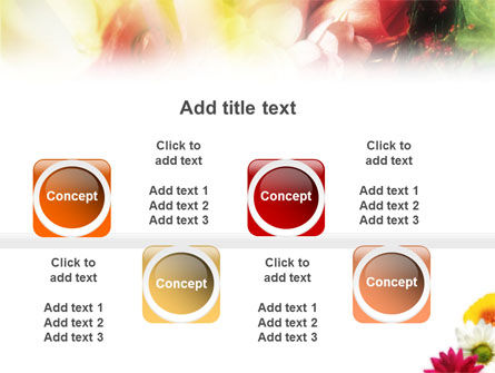 Yellow Red Flowers PowerPoint Template Slide 19