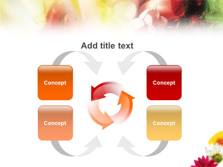 Yellow Red Flowers PowerPoint Template Slide 6