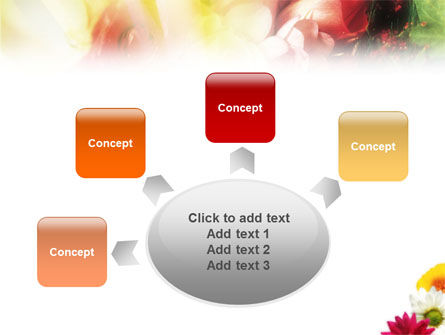 Yellow Red Flowers PowerPoint Template Slide 7