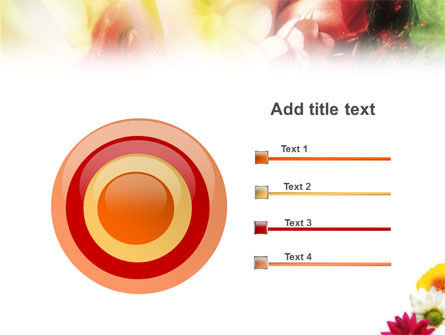 Yellow Red Flowers PowerPoint Template Slide 9