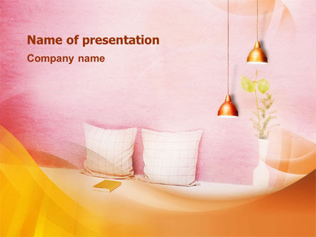 Careers/Industry: Comfort In A Bedroom PowerPoint Template #01488