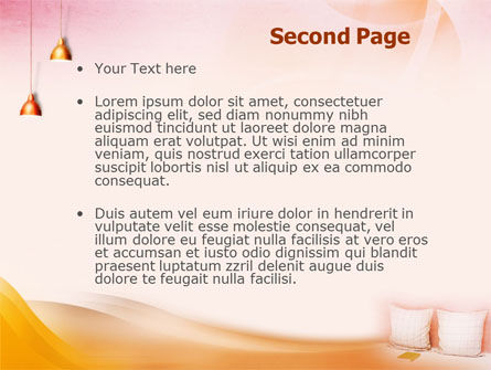 Comfort In A Bedroom PowerPoint Template Slide 2