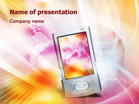 Telecommunication: Portative PowerPoint Template #01492