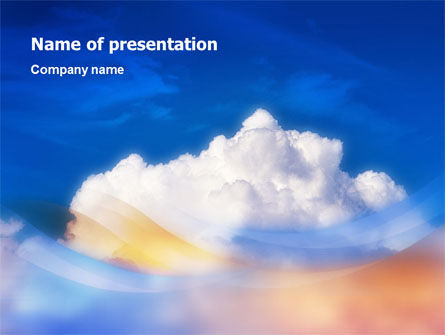 Cloud PowerPoint Template, 01493, Nature & Environment — PoweredTemplate.com