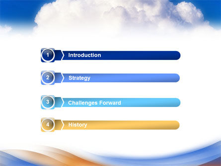 Cloud PowerPoint Template, Slide 3, 01493, Nature & Environment — PoweredTemplate.com