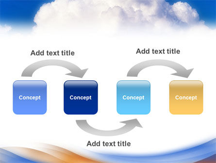 Cloud PowerPoint Template, Slide 4, 01493, Nature & Environment — PoweredTemplate.com