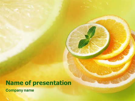 Citrus PowerPoint Template, 01494, Food & Beverage — PoweredTemplate.com