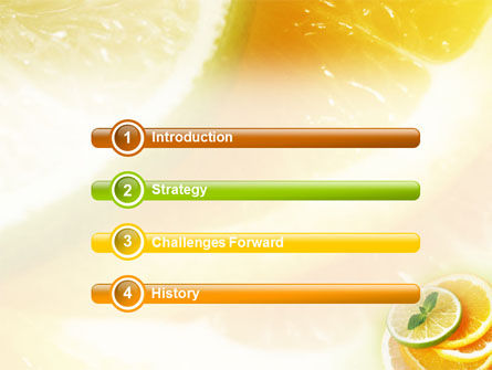 Citrus PowerPoint Template, Slide 3, 01494, Food & Beverage — PoweredTemplate.com