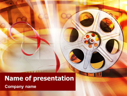Movies PowerPoint Template, 01495, Art & Entertainment — PoweredTemplate.com