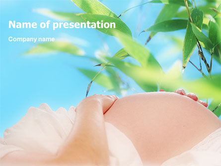 Medical: Pregnancy PowerPoint Template #01497