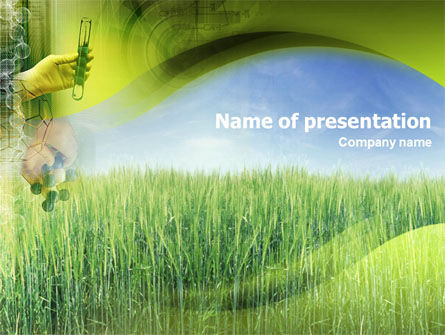 Technology and Science: Cereal Breeding PowerPoint Template #01498