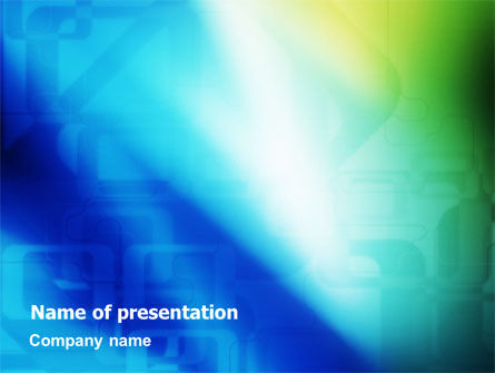 Abstract/Textures: Blank Blue PowerPoint Template #01501