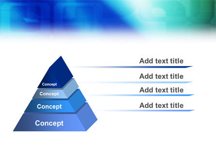 Blank Blue PowerPoint Template Slide 10