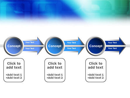 Blank Blue PowerPoint Template Slide 11