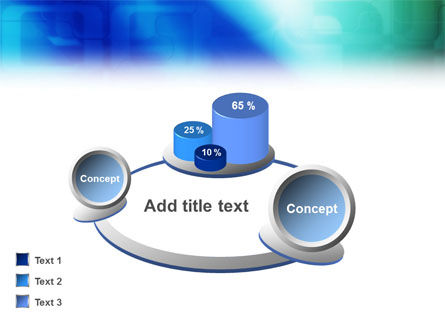 Blank Blue PowerPoint Template Slide 13