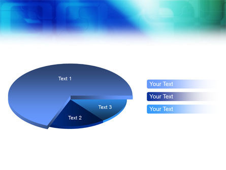 Blank Blue PowerPoint Template Slide 14
